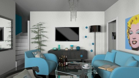 Bleu - Modern - Living room - by Caro Ferni