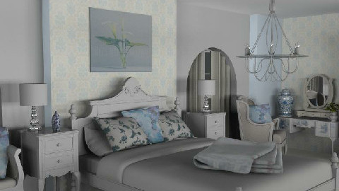 Blue Bedroom - Bedroom - by Lisa R