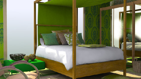 green  - Eclectic - Bedroom - by chania