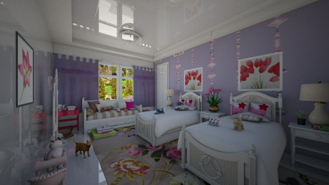Branco e Roxo - Kids room - by Maria Helena_215