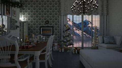 White christmas night - by Kalinowska