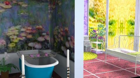 Waterlilies - Country - Bathroom - by Interiors by Elaine