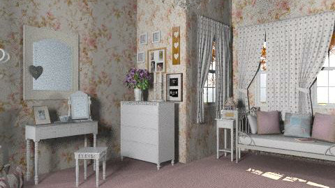 light chic - Feminine - Bedroom - by ellena_nice