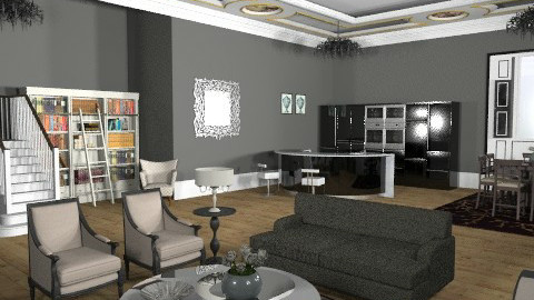NYC Penthouse - Glamour - Living room - by camilla_saurus