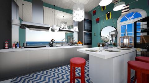 nautical kitchen - by HIHELLOHI