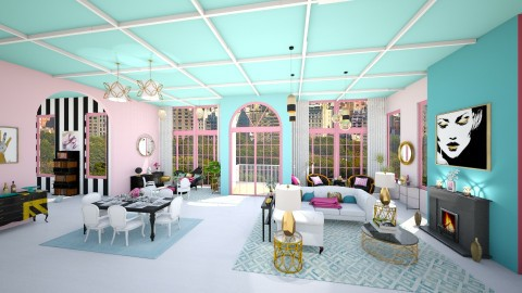 Bright colors - Glamour - Living room - by Ali Ruth