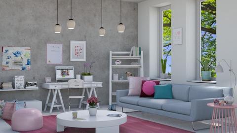 M_ Teen girls room - Living room - by milyca8