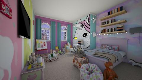 unicorn room - Modern - Kids room - by InaasAzizah