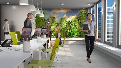 Living Wall Office - Office - by GraceKathryn