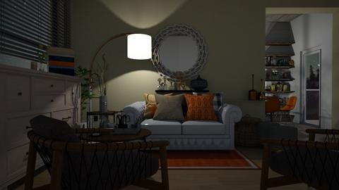 Orange Livingroom - Living room - by MagiC_FetuS