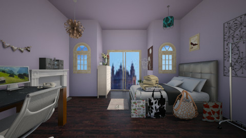 teen girl room - Bedroom - by stauroula
