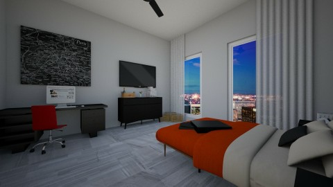 Large Home Guest Bedroom  - by Courtneyaziz