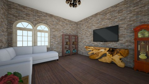 Mod Family Room - Living room - by JaguarQueen