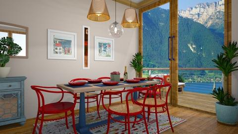 RED AND BLUE - Dining room - by MissREZA