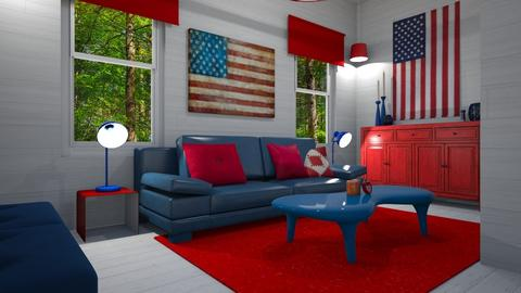4th of July - Living room - by PenAndPaper