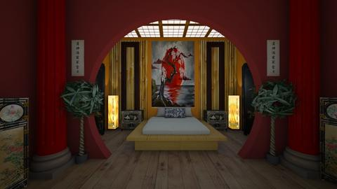 japanese style  - Bedroom - by Kylie Awa