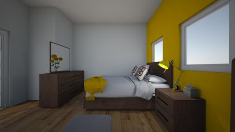 The Yellow Room - Bedroom - by Butterfly_Bandit