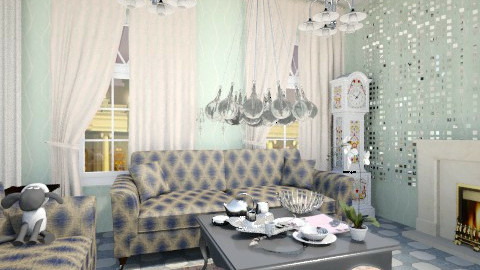 บ้าน - Glamour - Living room - by Sherrycress