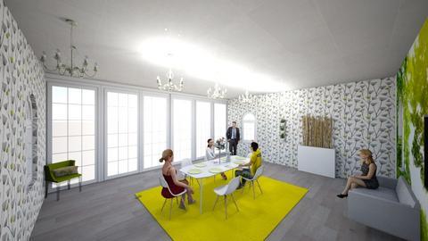 green dining - Modern - Dining room - by kaitldon