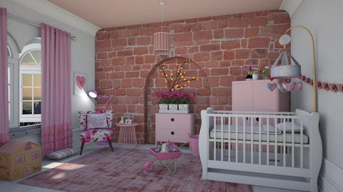Pretty in pink - Feminine - Kids room - by Tree Nut