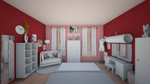 Girl room 3 - Glamour - Bedroom - by Mah003