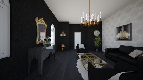 Freestyle Black gold A3 - Modern - Living room - by Christine Ward_877