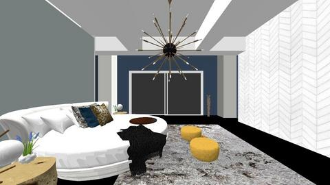 Luxury Gold And Dark Blue - Modern - Bedroom - by FabulousGirl35