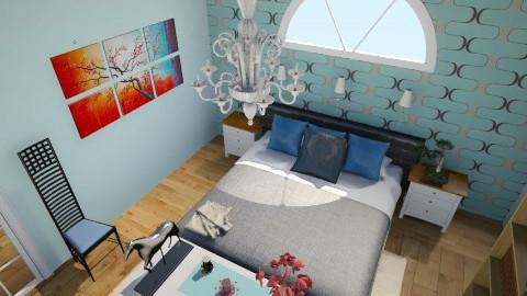 master bedroom  - Modern - Bedroom - by sassysammy123