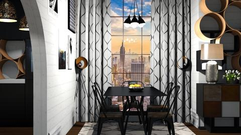in the city - Modern - Dining room - by NEVERQUITDESIGNIT
