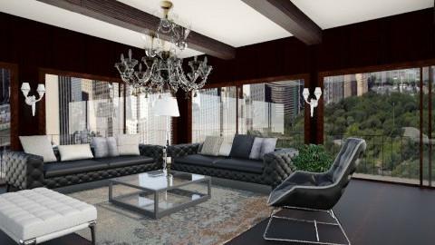 Maison de montagne - Living room - by amandine evieux