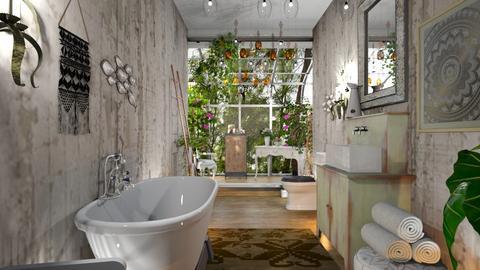 boho bathroom - Bathroom - by BortikZemec