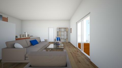 Apartment Living room and Kitchen - by NeshelleNewburn