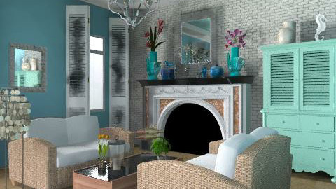 beach house - Vintage - Living room - by smw0196