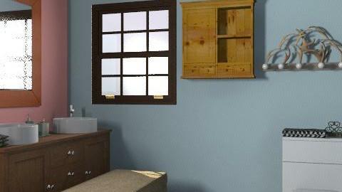 Simple Splash - Rustic - Bathroom - by Rubeeees