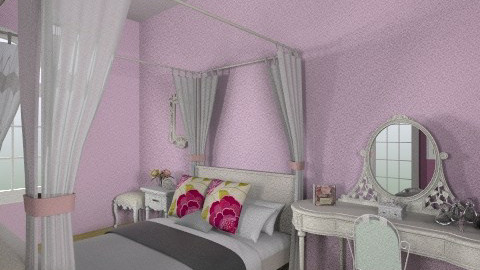 Lilac and White - Bedroom - by amyspringett