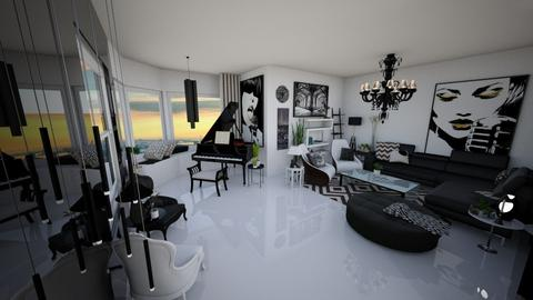 B and W - Classic - Living room - by BliNosif