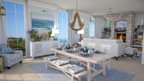 Coastal Cottage Main 1 - Living room - by rachaelphillips636
