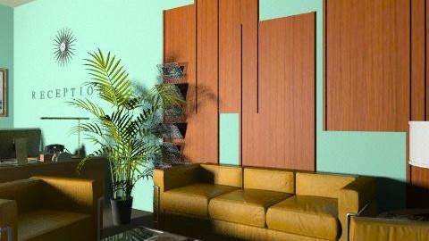 Retro Waiting Area - Retro - Living room - by reedj0218