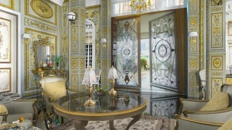 Mansion Entry - Classic - Living room - by Bibiche