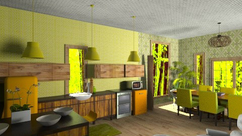 Inspired by Brady Bunch - Retro - Kitchen - by 66861499hala
