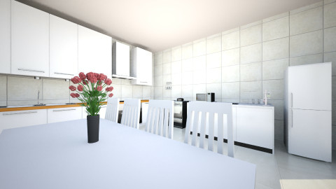 white kitchen - Modern - Kitchen - by Jo Oliveira