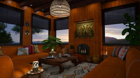 African Touch - Living room - by GraceKathryn