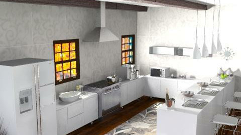 first kitchen - Classic - Kitchen - by Cejovic Andrijana