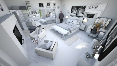 White Master Bedroom - by Beatrice Esan