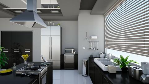 Sleek Modern Kitchen - Modern - Kitchen - by Sophia Cooper