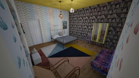 Wes Anderson - Eclectic - Bedroom - by kittytarg