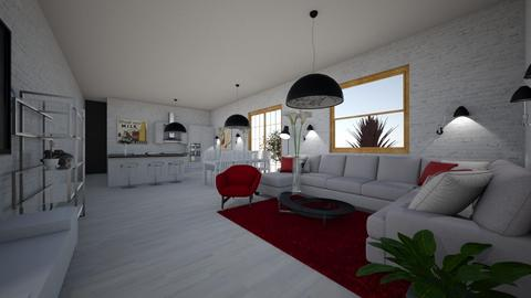 red illusion - Retro - Living room - by princessofpuppets