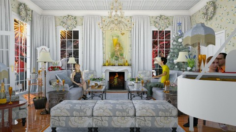 Happy New Year - Classic - Living room - by russ
