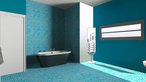 Bathroom blue - Retro - Bathroom - by Tatjanaa Linsenn
