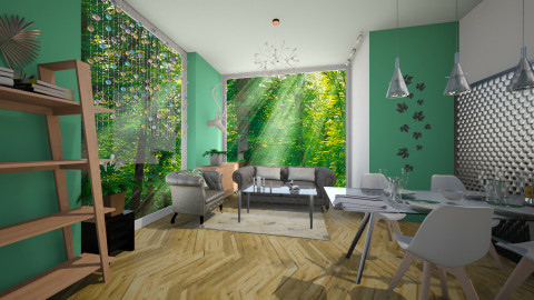 Earth tones2 - Living room - by Noella Louisy